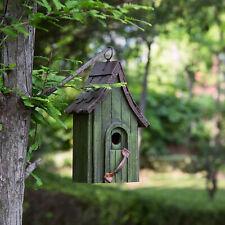 Glitzhome Wooden Rustic Door Handle Bird House Nest Hanging Outdoor Garden Decor