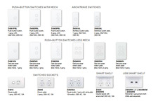 Clipsal  Zen Saturn Entire Range  All With Led Push Button Zen White