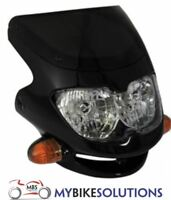 Bikeit Motorcycle Motorbike Dash Universal Screen Fairing Sport Headlight Black