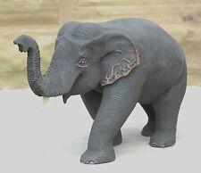 Wooden Elephant Carving Fine Quality Golden Teak Trunk Up