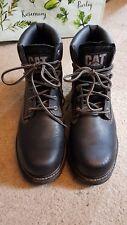 Mens black caterpillar boots size UK 11