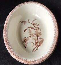 Rare Antique T & R Boote SUMMER TIME Royal Premium Aesthetic Oval Serving  Bowl