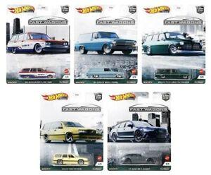 Hot Wheels Car Culture Fast Wagons Complete Set 1-5
