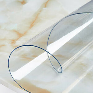 1.5mm PVC Clear Tablecloth Round Transparent Table Protector Cover Waterproof