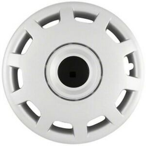 TEN SLOT SILVER HUBCAPS --- SET OF FOUR--- 15 INCH