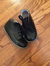 Footmates baby toddler shoes black leather size 5.5 XW