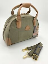 Safari Globetrotter Half Moon Vanity Travel Bag Trimmed With Real Leather BNWT