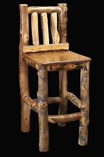 Log Chair Tall Barstool - Country Western Rustic Cabin Wood Table Kitchen Decor