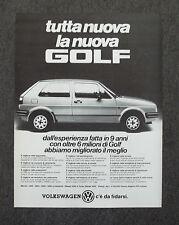 G050-Advertising Pubblicità-1984 - NUOVA GOLF VOLKSWAGEN C'E' DA FIDARSI