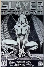 Slayer Testament Kozik POSTER Original 1990 Texas Silver Version Unsigned