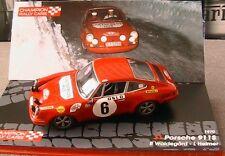 PORSCHE 911S #6 1ST WINNER RALLYE MONTE CARLO 1970 WALDEGAARD HELMER IXO 1/43