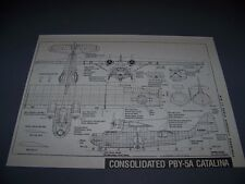 VINTAGE..CONSOLIDATED PBY-5A CATALINA...3-VIEWS/DETAILS..RARE! (255B)
