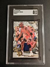 1992-93 Fleer Michael Jordan Total D #5 SGC 8 Chicago Bulls HOF