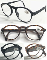 R244 Superb Quality TR90 Reading Glasses/Spring Hinges/Fordable & Matte Round