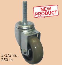 3 12 Inch Swivel Stem Caster Poly Threaded Heavy Duty Wheels Nsf Listed New