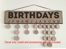 Family Birthday Board Decal Events Anniversary Sticker Decal Sign Craft Gift