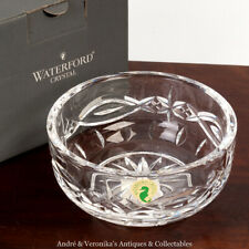 """Waterford Crystal Glass DOLMEN 5"""" BOWL Wheel Cut Irish - New in Box with Papers"""