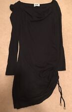 Women's Alice by Temperley black cowl neck asymmetrical mini dress size 6