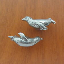 Penguin Drawer Pull Set - Left and Right Facing Penguin Cabinet Knobs