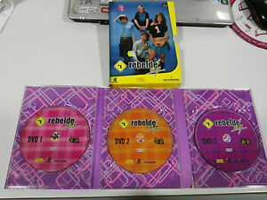 Rbd REBELDE Way ERREWAY Season 1 - 3 DVD Chapters 20-31 Spanish Ed + Poster
