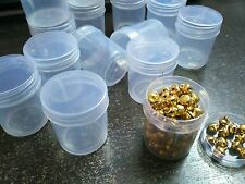 96 Clear Plastic Small Boxes Container with Lid DIY Crafts Beads Parts 4.5x3.5cm
