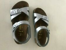 Birkenstock sandals for girls; size 12/12.5; siver; brand new