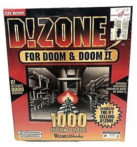 PC Big Box CD-ROM Game D!Zone3 For Doom/ Doom II Collectors Edition 1995 NIB NOS