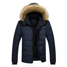 Men Jacket Warm Padded Hooded Casual Fashion Winter Parka Outwear Coat Khaki 5xl