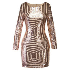 a30628dee6 Women Bodycon Backless Glittering Sequin Evening Party Cocktail Short Mini  Dress