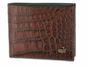 2020 Masters Augusta Golf Brown Embossed Alligator Leather Bi-Fold Wallet