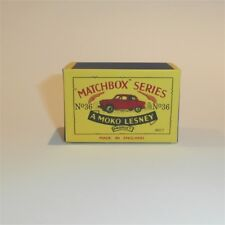 Matchbox Lesney 36 a Austin A50 Cambridge empty Repro B style Box