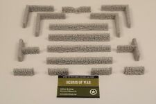28mm Unpainted Dry stone wall Ancients / Saga / Frostgrave / WW2 Bolt action