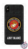 US Marine Corps Military Phone Case Cover For iPhone Samsung LG Google etc NAME