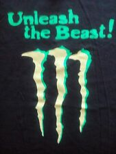 MONSTER ENERGY - UNLEASH THE BEAST-GRAPHIC 2 SIDED T-SHIRT-LARGE
