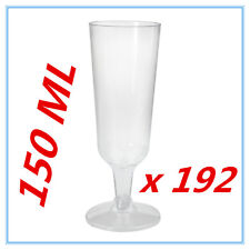 192 X DISPOSABLE PARTY PLASTIC CLEAR CHAMPAGNE GLASS - ALL Occasions, WEDDING AP