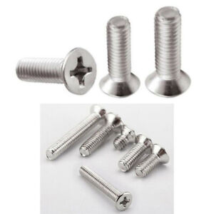 Panel Screws 100pcs 50PCS M1 M1.2 M1.4 M1.7 M2 M2.2 M2.6 M3 M4 Cross Recessed Flat CountersunK Head Screws Self-tapping Wood Screws Nails Fasteners Color : 8mm, Size : M2.2 100pcs