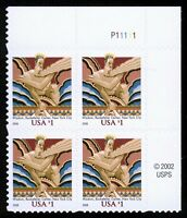 #3766a $1 Wisdom, Plate Block, Mint **ANY 4=FREE SHIPPING**