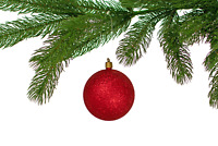 Red Glitter Christmas Ball Ornaments Tree Hanging Plastic Holiday 3'' Set of 12