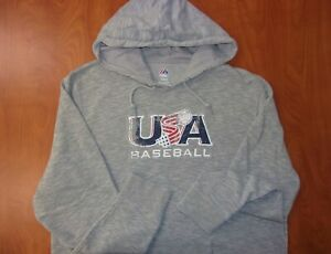 Majestic World Baseball Classic Team USA Cotton Blend Hoodie Sweatshirt XL