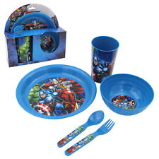 Children's Marvel Avengers 5 Piece Breakfast Set Plate Bowl Cup Spoon & Fork