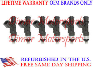 6pcs 0280158055 Injectors,ANGLEWIDE 4 Holes Fuel Injectors Sets fit for Ford Explorer,for Ford Explorer Sport Trac,for Ford Mustang,for Ford Ranger,for Land Rover LR3,for Mazda B4000