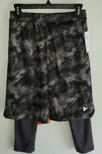 NEW Old Navy Boys 10-12 Go-Dry 2-in-1 Mesh Basketball Shorts GREEN CAMO #21721