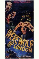 WEREWOLF OF LONDON Movie POSTER 14x36 Insert Henry Hull Warner Oland Valerie