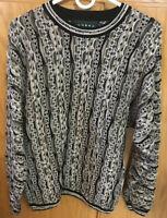 Tundra Canada Multi Colored Vintage 1990s Coogi Style Medium Men's Sweater