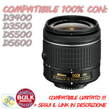 Nikon Obiettivo 18-55mm AF-P VR f/3.5-5.6 DX BULK LEGGI COMPATIBILITA