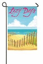 Summer Lazy Days in the sand at the Beach Mini Garden Flag NEW