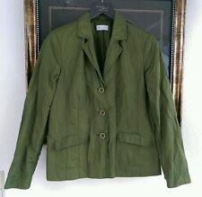 Bonita Blazer Crinkle Anzugjacke Gr 40 grün Neuwertig