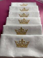 Antik'Etoffe, 6 serviettes lin ancien, 5 motifs de couronnes au choix, Site
