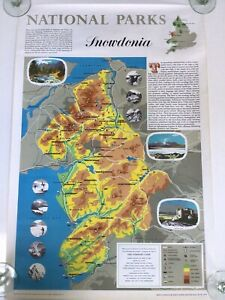 EIGHT VINTAGE BRITISH NATIONAL PARKS MAPS FOR SCHOOLS- DATED 1968 SNOWDONIA ETC