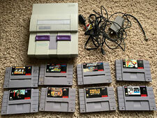 Super Nintendo SNES Original System Console w/8 Games SNS-001 Tested!